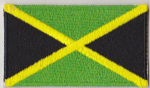 Jamaica Embroidered Flag Patch, style 04.